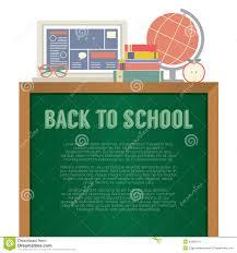 M El Schreibtisch Laptop Bücher Und Schreibtisch Kugel Zurück Zu Schulkonzept