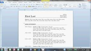 resume for word 2010 how to create a resume on microsoft word 2010 resume exles 2017