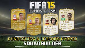 fifa 15 legend bundesliga hybrid squad builder ft beckenbauer