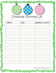 gift shopping list best 25 christmas list printable ideas on christmas