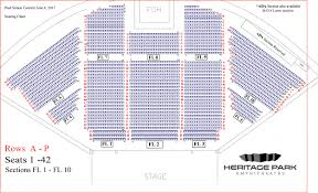 Amphitheater Floor Plan by Seating Chart U2013 Heritage Park Amphitheatre Formerly Charter