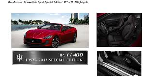 maserati sport convertible special edition models
