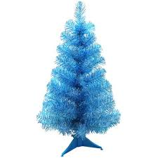 Blue Christmas Tree Decorations Uk by 24