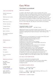 Assistant Accountant Sample Resume by Cv Resume Samples