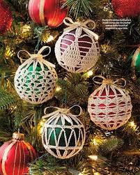 crochet christmas ornament covers vintage crocheting pdf pattern