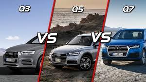 audi jeep 2017 2017 audi q3 vs audi q5 vs audi q7 feature length comparison