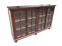 library console buffet bookcase in mahogany wood bookcases with