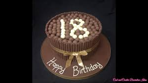 chocolate birthday cake design decorating ideas youtube