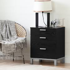 flexible black oak nightstand charging station rc willey
