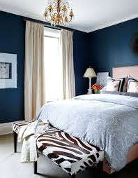 White Curtains With Blue Trim Bedrooms Blue Walls Zebra Bench Ivory Silk Drapes Linen Bed