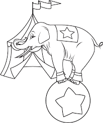printable 13 carnival coloring pages 10470 circus elephant