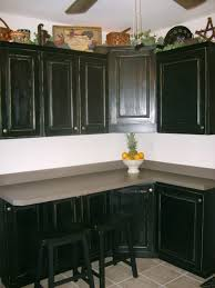 Espresso Painted Kitchen Cabinets Black Painted Kitchen Cabinets