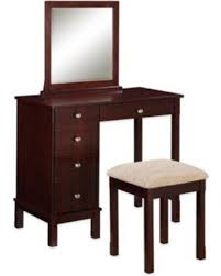 Linon Home Decor Vanity Set With Butterfly Bench Black Amazing Deal On Linon Home Vanity And Bench Set In Walnut
