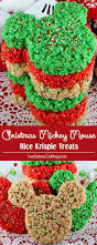christmas mickey mouse rice krispie treats two sisters crafting