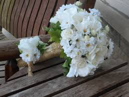 Groom S Boutonniere Anemones Roses Daisies Silk Bridal Bouquet And Grooms Boutonniere