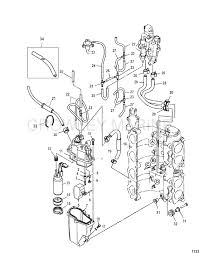 mercury 115 fuel diagram replace fuel pump mercury outboard motor