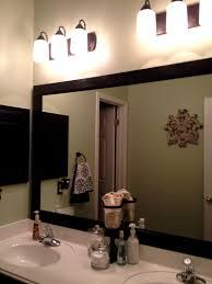 Bathroom Framed Mirror Wonderful Bathroom Wall Mirrors Framing Mirror Ideas Bathroom