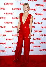 plunging jumpsuit kate hudson sparkles in plunging jumpsuit at cari calendar