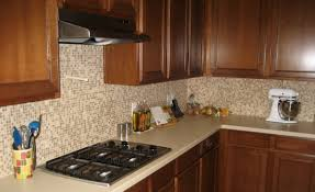 classic kitchen ideas with brown glass lowes tile backsplash teak