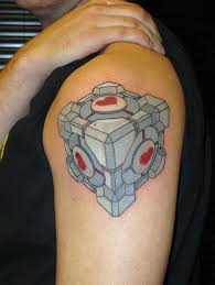 awesome colorful cube tattoo tattoomagz