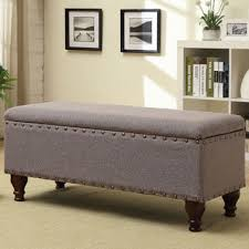 Storage Seat Bench Homepop Storage Bench Linen Free Shipping Today