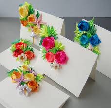 How To Make Origami Greeting Cards - roses origami greeting cards set of 5 s day cards easter