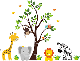 list of jungle animals clip art library