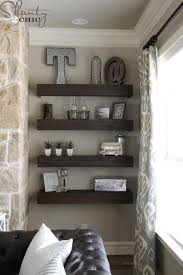 diy livingroom decor diy floating shelves for my living room shanty 2 chic
