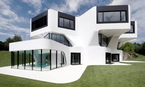 glass front house decor futuristic homes with curvy roof and glass windows for