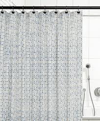 Check Shower Curtain Ellis Curtain Breckan Ikat Check 100 Cotton Shower Curtain