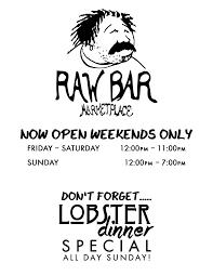 the raw bar
