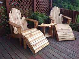 Adirondack Chair With Ottoman Deluxe Patio Set Michigan Adirondack Chairs Ottomans And