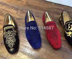 cheap high quality black suede embroidery men flat shoes low cut