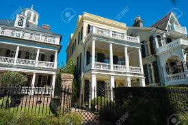 southern style house historic southern style homes in charleston south carolina stock