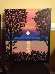 painted canvas ideas for christmas painting ideas pinterest