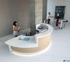 banque d accueil bureau banque d accueil modulable avec éclairage intégré valde mdd