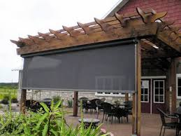 Screened In Pergola by Exterior Solar Screens Bill U0027s Canvas Shop
