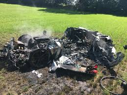 bugatti crash ferrari 430 scuderia crashed in south yorkshire england