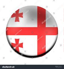 Georgia Flag Georgia Flag Button Stock Illustration 428442355 Shutterstock