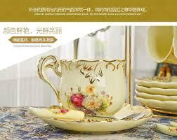 porcelain elegant coffee cups and saucer ceramic mugs luxury