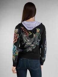 ed hardy womens hoodies cross true love in black 64 00 ed