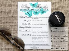 Order Wedding Programs Wedding Programs And Order Of The Day A S Invites