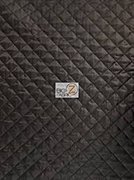 faced reversible pre quilted black polycotton