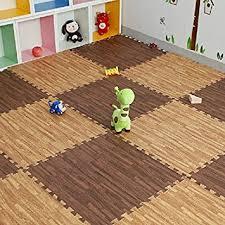 tappeti ad incastro simwood 18 pezzi puzzle mat branded effetto legno ad incastro