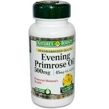 Evening Primrose Oil For Hair Loss Nature U0027s Bounty Evening Primrose Oil 500 Mg 100 Softgels