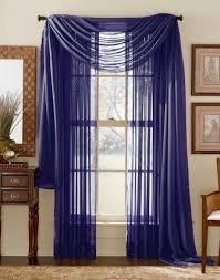 Valance Blue Amazon Com 1 X Royal Blue Elegance Sheer Scarf Valance 216 U0027 U0027 Long