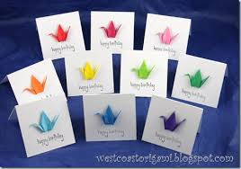 west coast origami latest projects origami mini cards