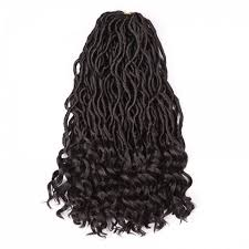 synthetic hair extensions black brown medium crochet dreadlocks braids wavy synthetic hair
