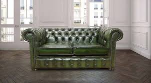 chesterfield sofa green antique leather chesterfield sofa designersofas4u