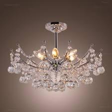crystal semi flush mount lighting rustic 4 light black metal round cage semi flush mount ceiling light